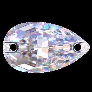 Kamínky PRECIOSA HRUŠKA 2D crystal AB 12x7mm