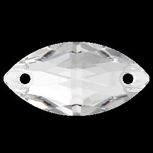 Kamínky PRECIOSA NAVETA 301 2D crystal 18x9mm