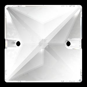 Kamínky PRECIOSA ČTVEREČEK 303 2D crystal 16x16 mm