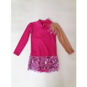 Trikot růžový zdobený flitry