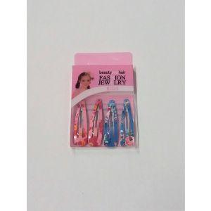 Sponky do vlasů dívčí s kvítky (růžová, modrá)