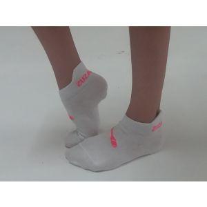 Ponožky bílé kuželky růžové