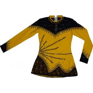 Trikot žluto-černý dlouhý rukáv