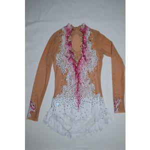 Trikot bílo-růžový dlouhý rukáv