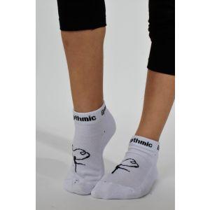 Ponožky RG bílé, černá gymnastka zesílené