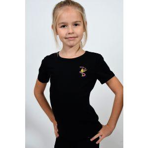 Tričko TULONI s gymnastkou černé