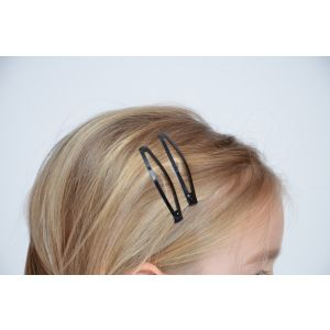 Sponka do vlasů pukačka černá 6cm