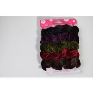 Gumičky do vlasů mix barev (tmavé)