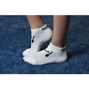 Ponožky bílé, kužele černé, zesílené