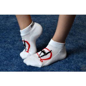 Ponožky bílé gymnastka zesílené