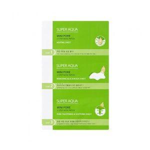 MISSHA Super Aqua Mini Pore 3Step Nose Patch - 3fázová péče na černé tečky