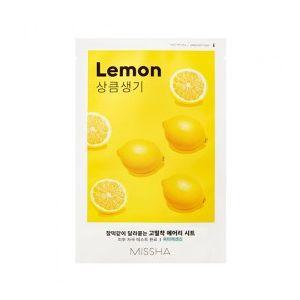 MISSHA Airy Fit Sheet Mask (Lemon) - rozjasňující jednor. pleť. maska s extraktem citronu