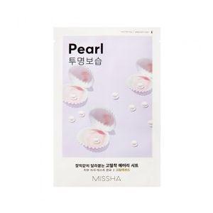 MISSHA Airy Fit Sheet Mask (Pearl) - rozjasňující jednoráz. pleť. maska s extraktem perel