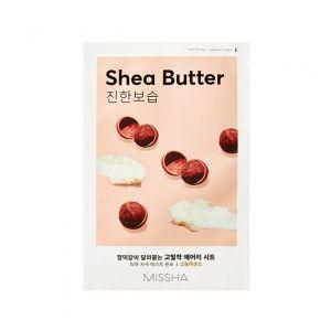 MISSHA Airy Fit Sheet Mask (Shea Butter) - hydratační jednorázová pleťová maska s extrakte
