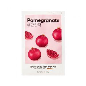 MISSHA Airy Fit Sheet Mask (Pomegranate) - zpevňující jednorázová pleťová maska s extrakte