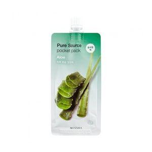 MISSHA Pure Source Pocket Pack (Aloe) - noční hydratační maska s aloe vera