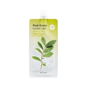 MISSHA Pure Source Pocket Pack (Green Tea) - noční maska s extraktem ze zeleného čaje