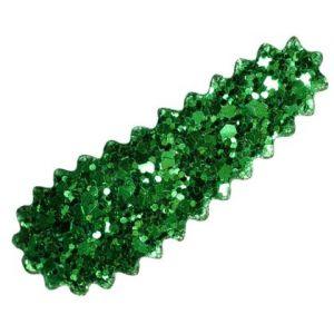 Sponka do vlasů se třpytem zelená