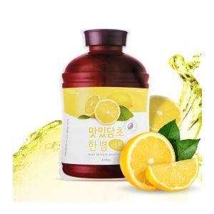 A'PIEU Fruit Vinegar Sheet Mask (Lemon) - rozjasňující jednorázová pleťová maska