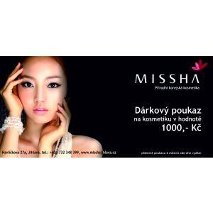Dárkový poukaz MISSHA hodnota 1000 Kč