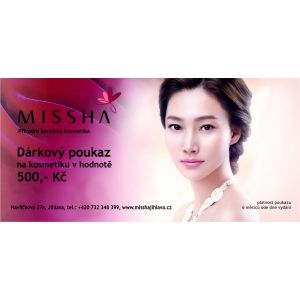 Dárkový poukaz MISSHA hodnota 500,- Kč