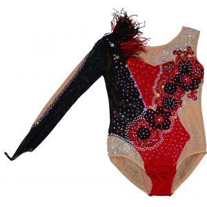 Trikot černo-červený s jedním dlouhým rukávem