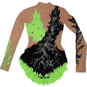 Trikot černo-zelený dlouhý rukáv