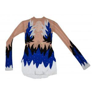 Trikot modro-černo-bílý dlouhý rukáv