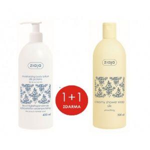 ZIAJA Tělové mléko Hedvábí 400ml + sprchový gel 500 ml zdarma  1+1
